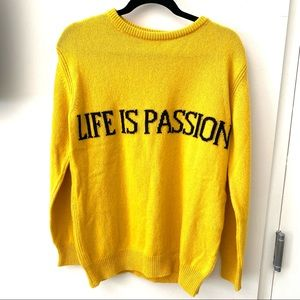 "•NWT• Alberta Ferretti ""Life is Passion"" Sweater"